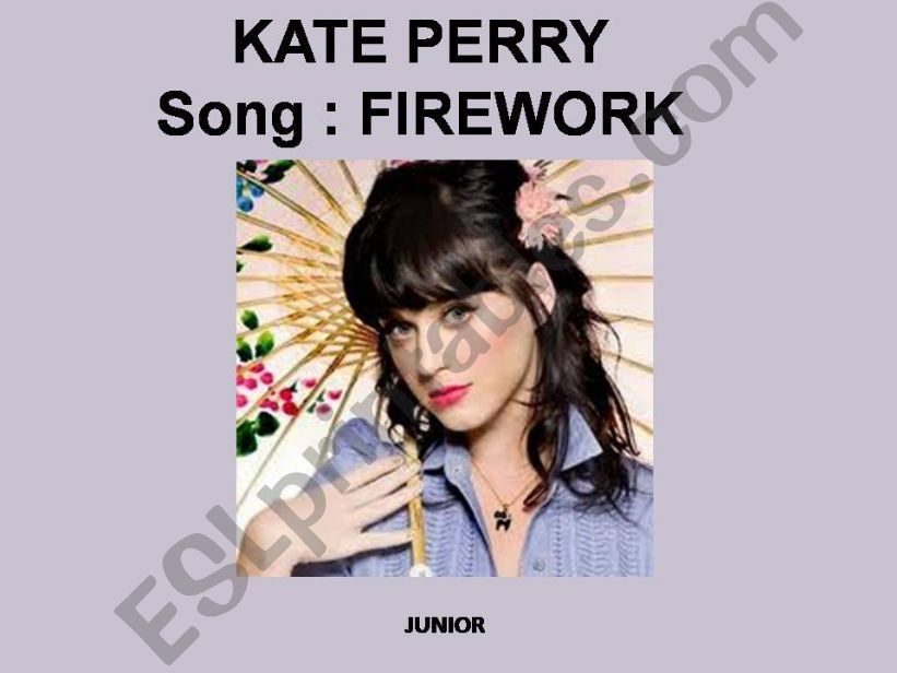 FIREWORK  BY KATE PERRY powerpoint