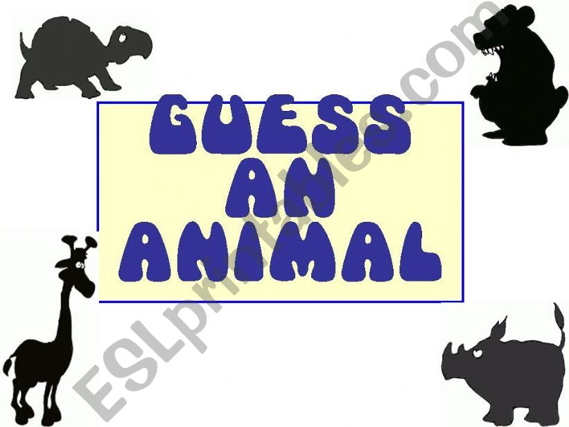 Guess an Animal_shadows powerpoint