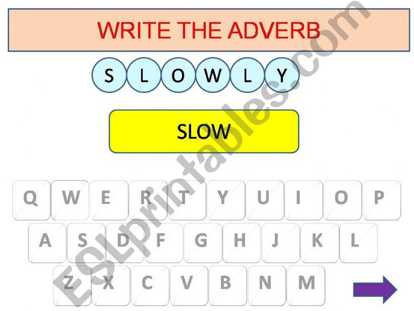 Adverbs game powerpoint