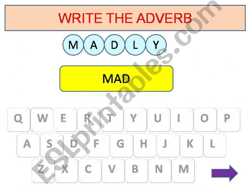 Adverbs game part 2 powerpoint