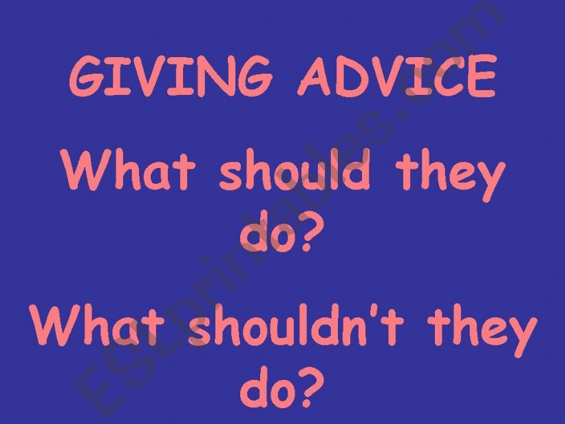 Giving Advice powerpoint