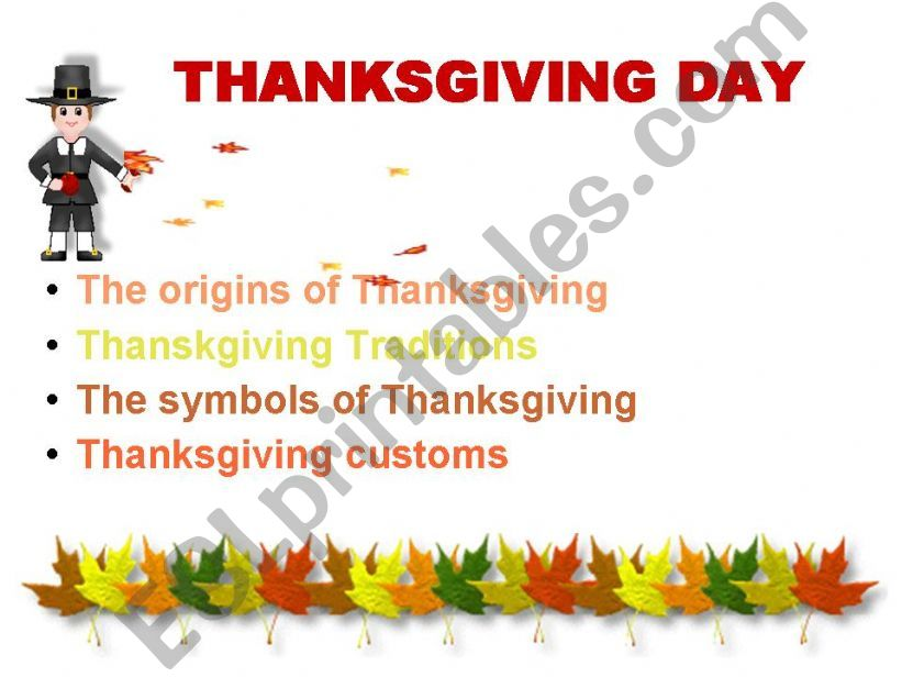 Thanksgiving Day in the USA powerpoint