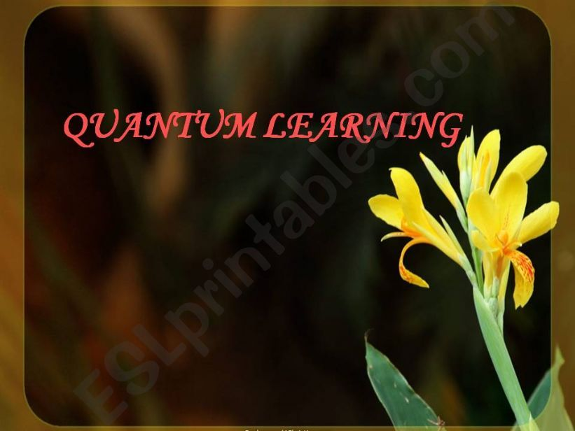 Quantum Learning powerpoint