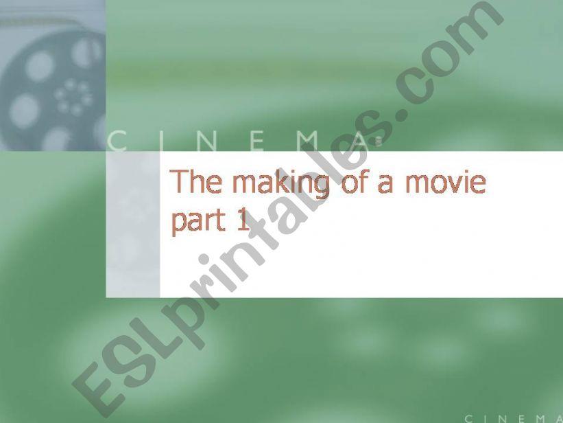 Jobs in the movie world powerpoint