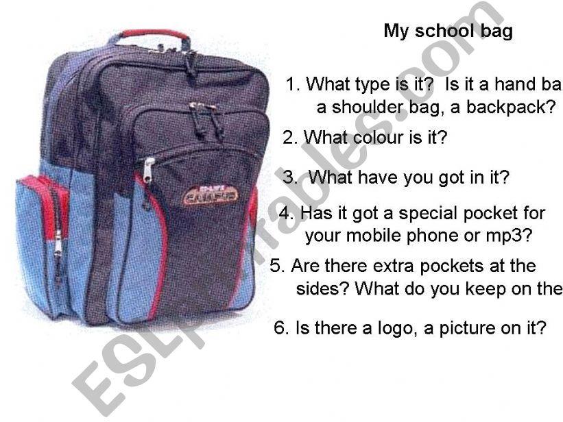 school bag powerpoint
