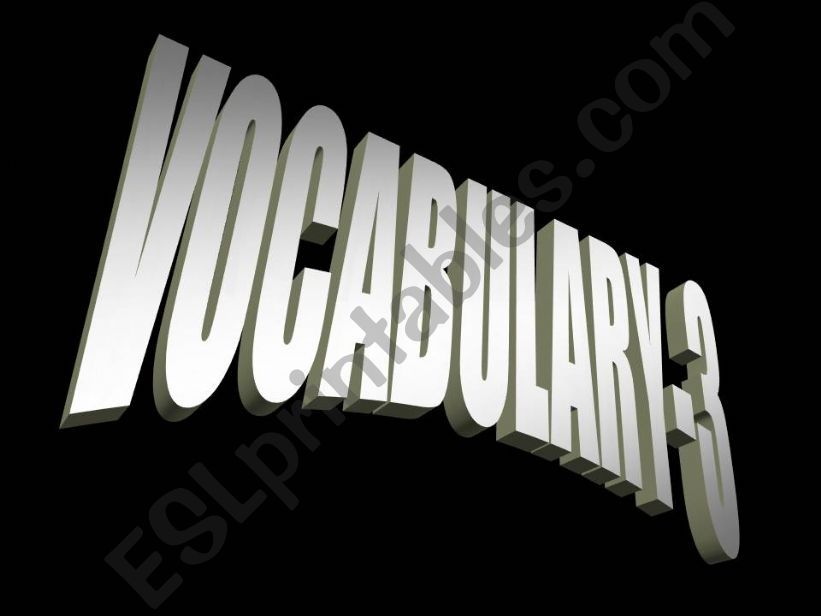 General Vocabulary powerpoint