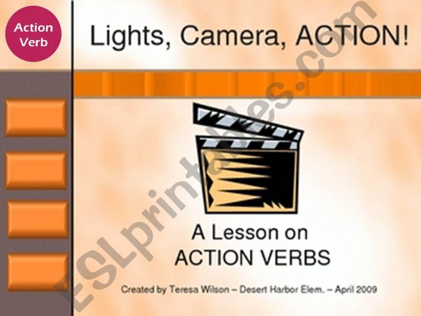 Action Verbs (present Simple/Present Continuous