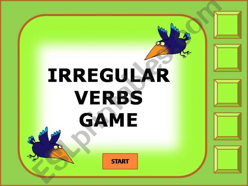 Irregular verbs game 1/11 powerpoint