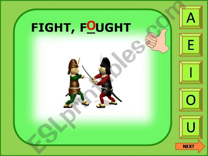 Irregular verbs game 4/11 powerpoint