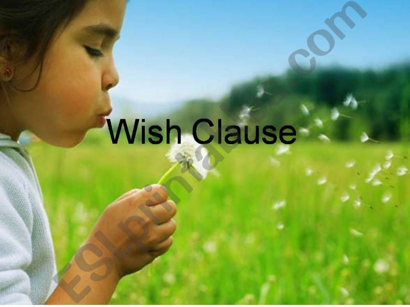 wish clause powerpoint
