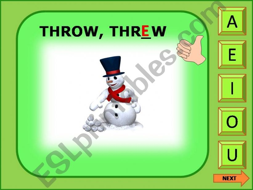 Irregular verbs game 11/11 powerpoint