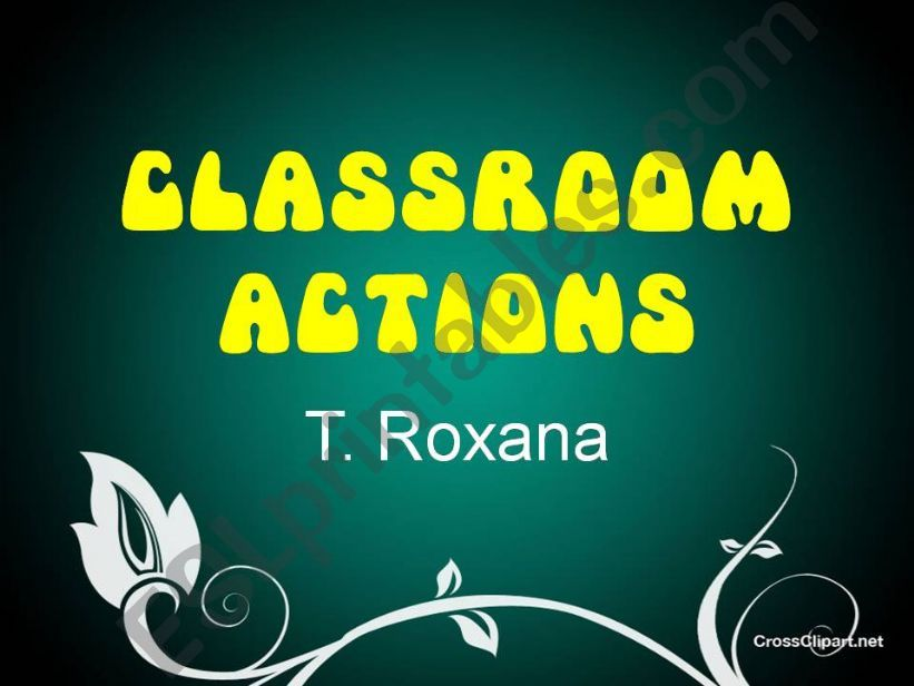 Classroom Actions powerpoint