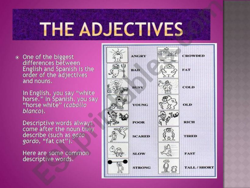 What is an adjective? powerpoint