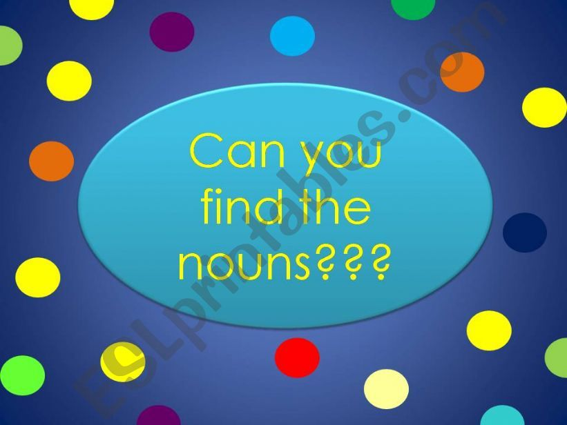 Nouns in sentences powerpoint