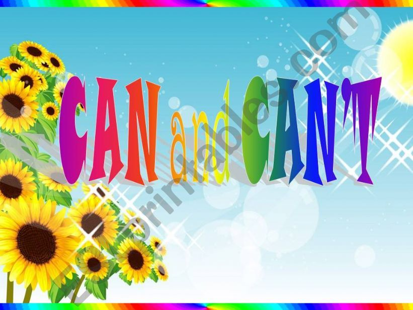 CAN and CAN´T powerpoint