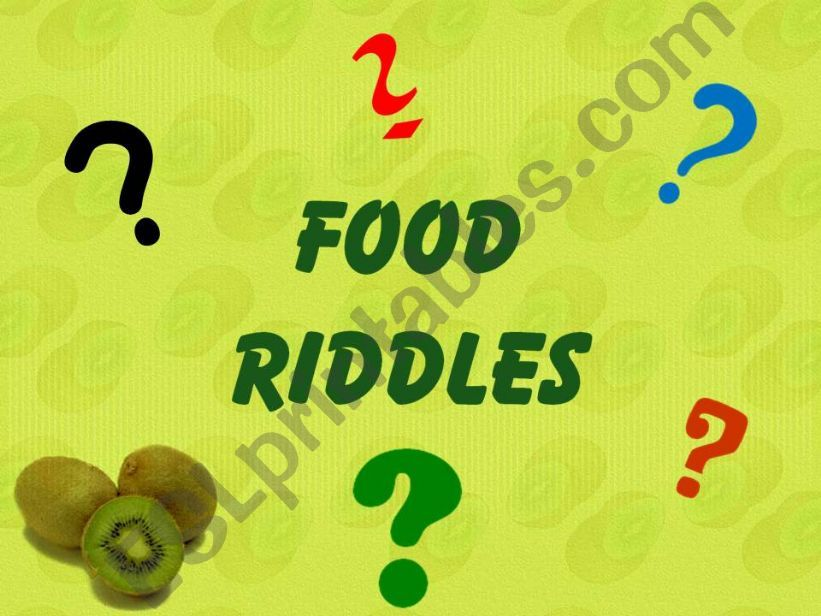 Food Riddles powerpoint