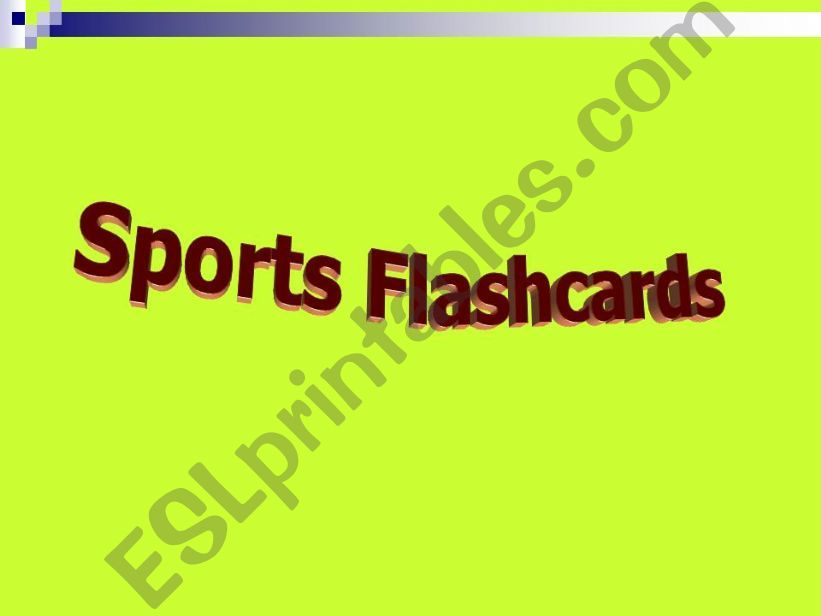 SPORTS FLASHCARDS PART 1 powerpoint