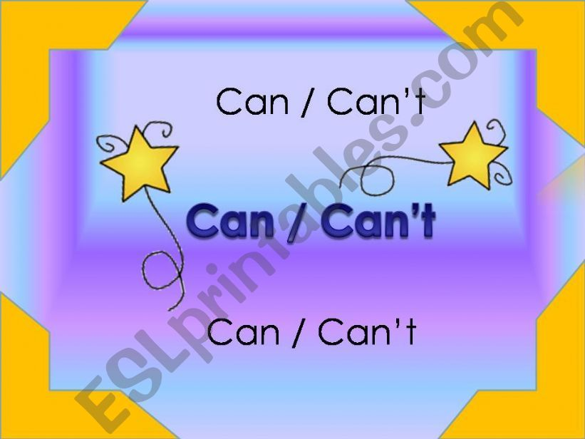 Can/can´t powerpoint