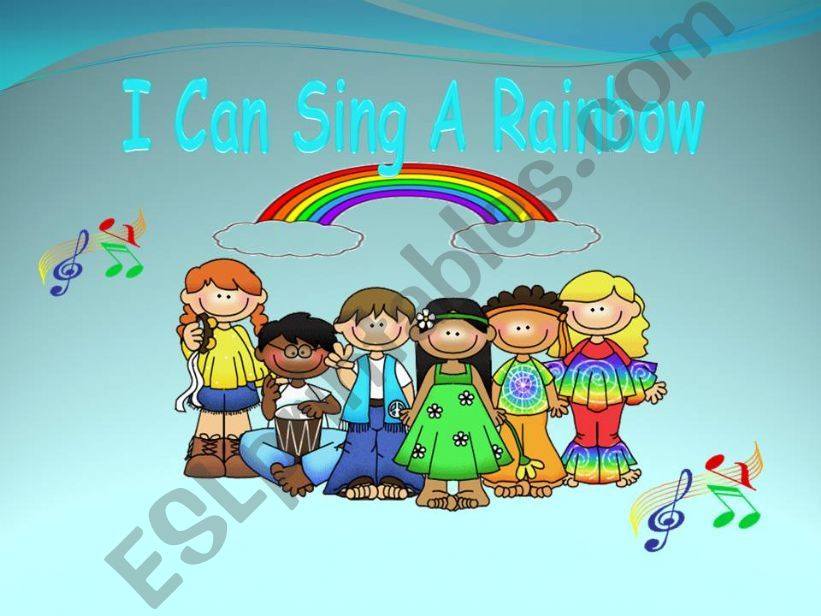 I can sing a rainbow powerpoint