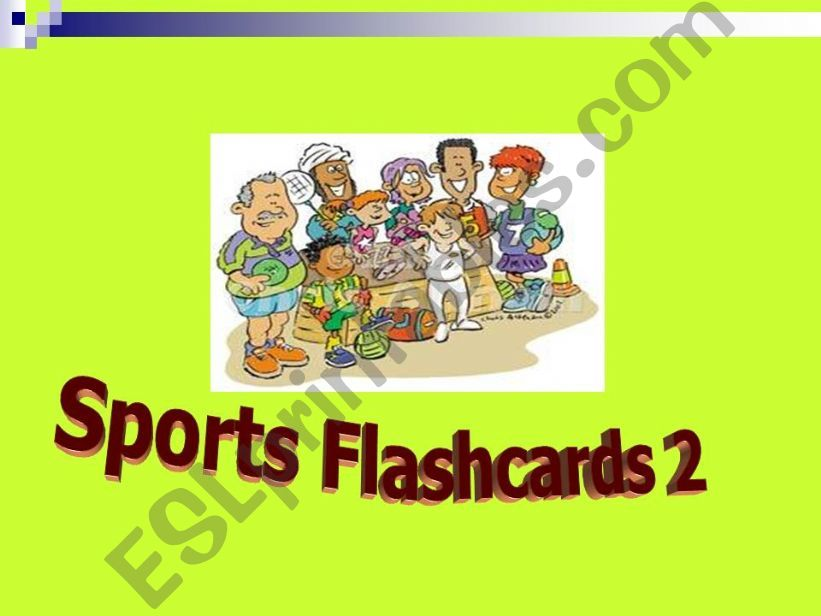 SPORTS FLASHCARDS 2 powerpoint