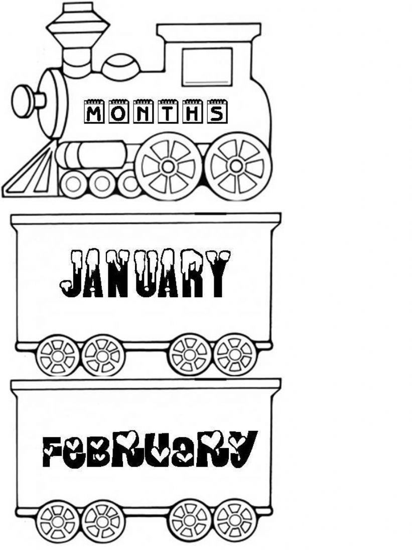 Months Train powerpoint
