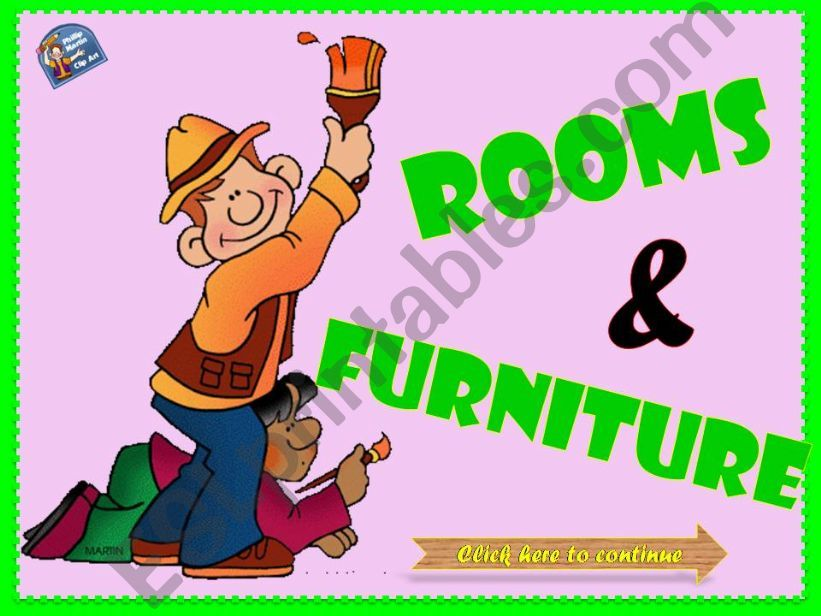 ROOMS & FURNITURE (Part 2) powerpoint