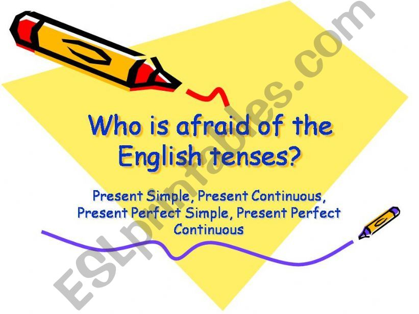 The Present Tenses powerpoint