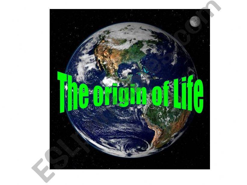 The Origin of Life powerpoint
