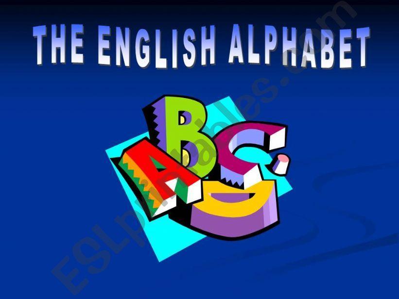 The English Alphabet powerpoint