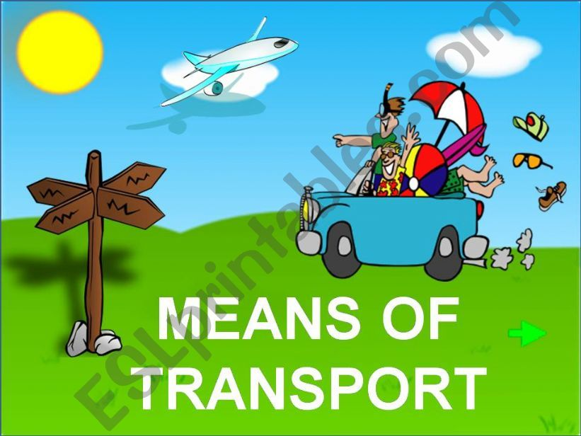 DIFFERENT MEANS OF TRANSPORT powerpoint