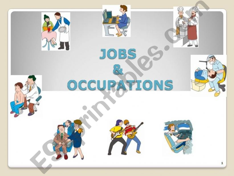 Jobs and Occupations part 1 powerpoint