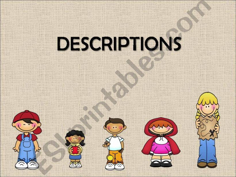 Physical descriptions. Appearance & Personality