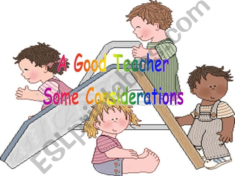 A good teacher powerpoint