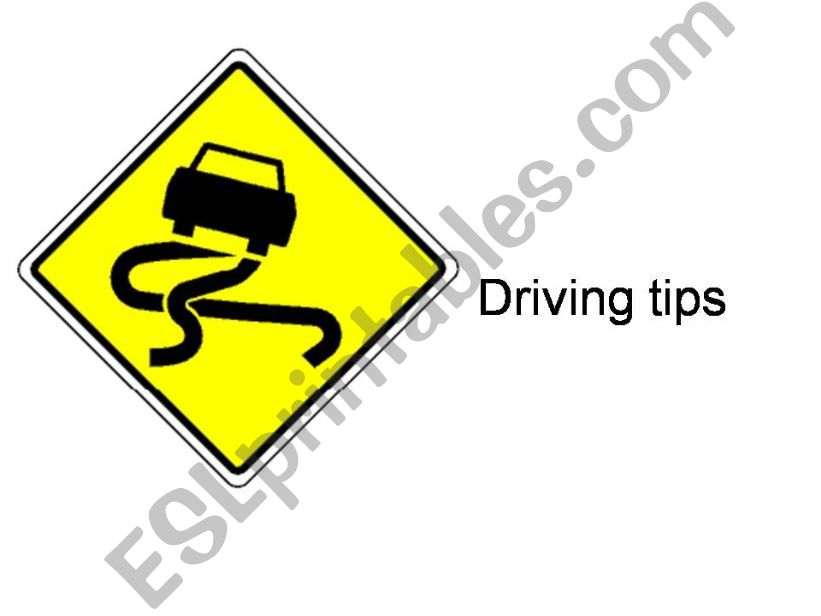 Driving tips powerpoint