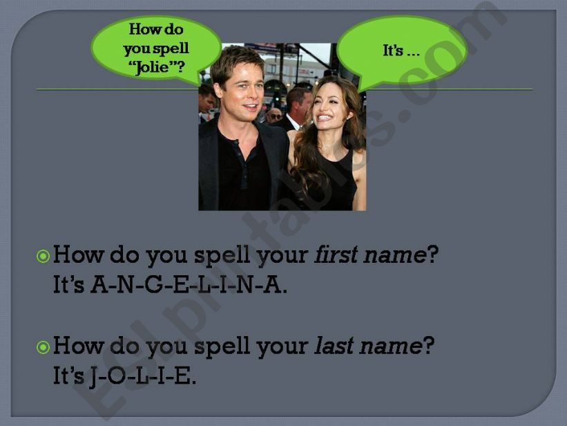 ESL - English PowerPoints: Introduce yourself - First day at