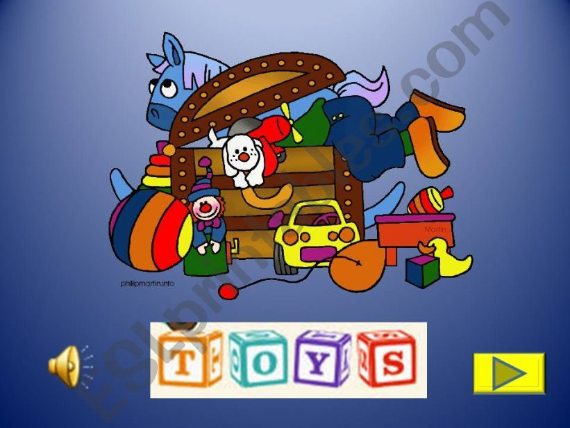 Toys activity with images, sounds and music