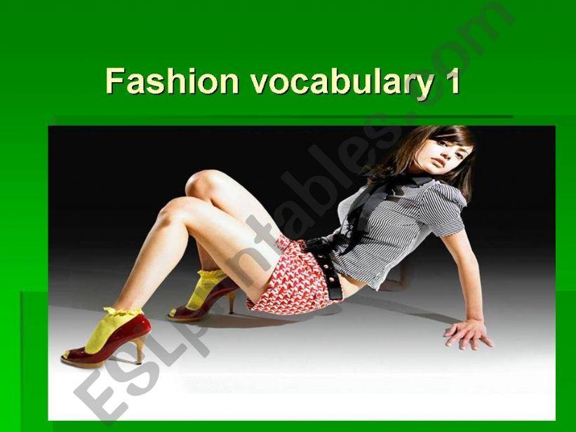 Fashion vocabulary flashcards 1