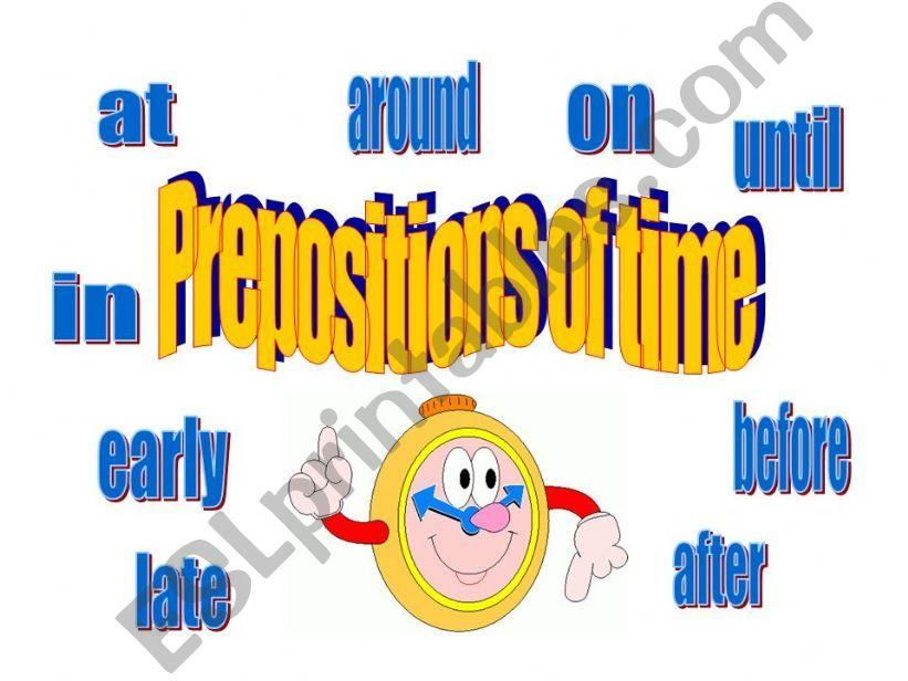 Prepositions of time powerpoint