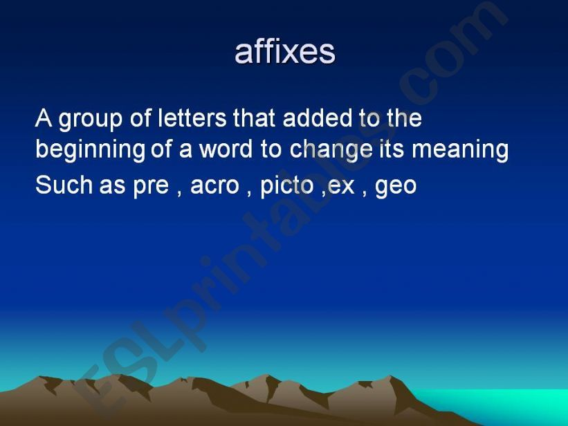 affixes powerpoint