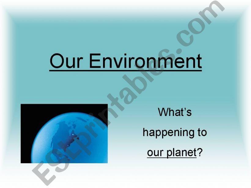 Environmental Threats powerpoint