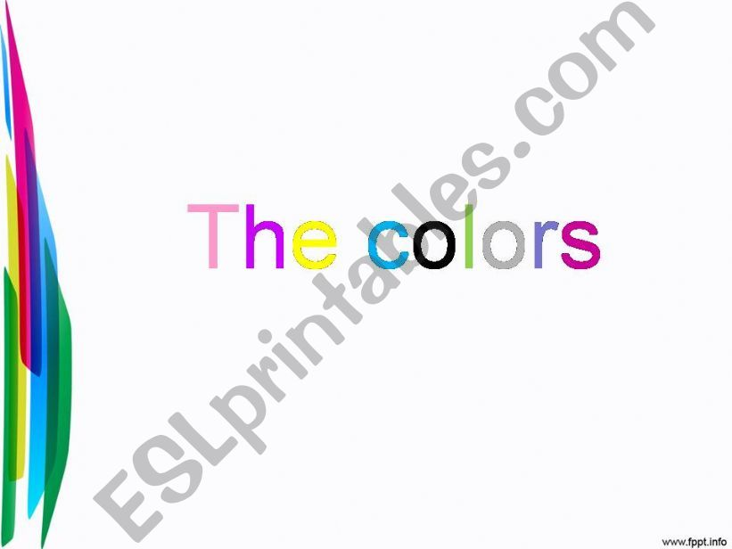 The colors!!! powerpoint