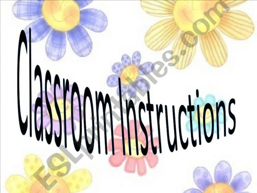 Classroom  Instructions powerpoint