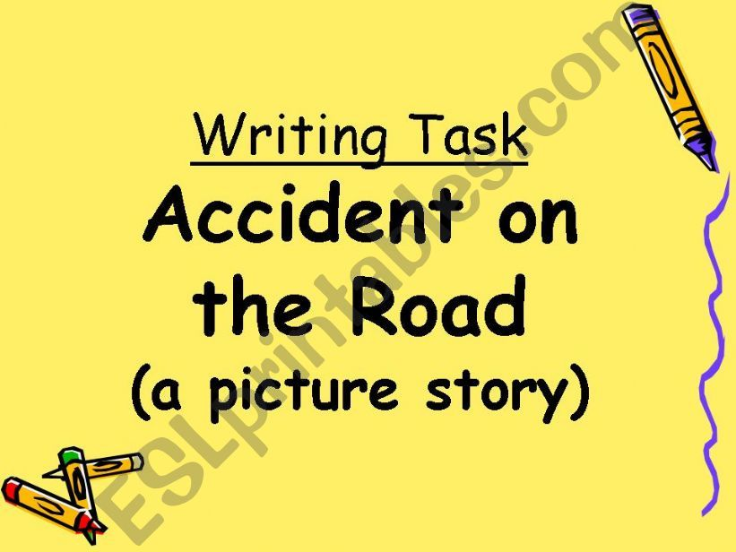 Accident on the Road powerpoint