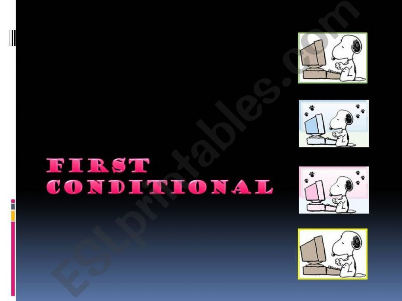 First Conditional grammar and examples (easy)