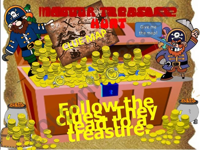 Classroom Indoor Treasure Hunt--a great game or special reward