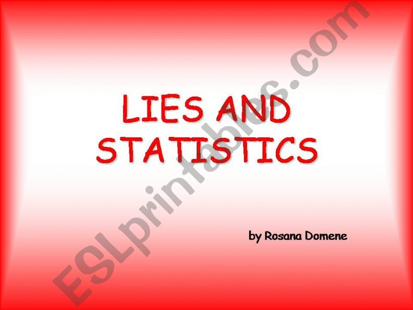 Lies and statistics powerpoint