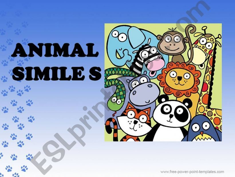 animal similes  powerpoint