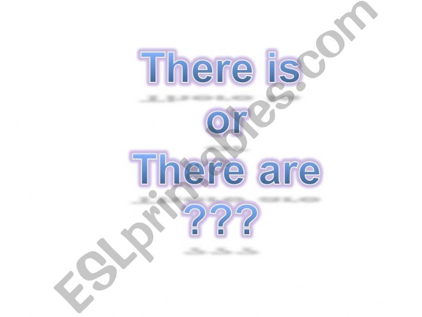 there is or there are? powerpoint