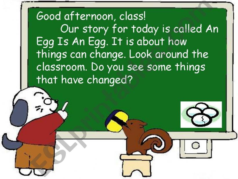 Story-An Egg is an Egg powerpoint