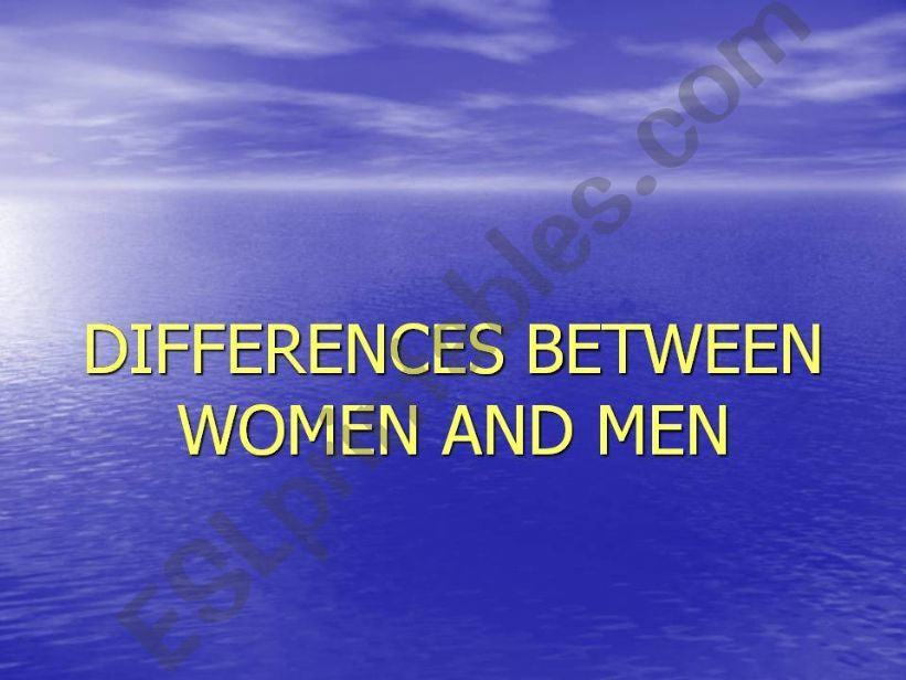 Comparing women and men powerpoint